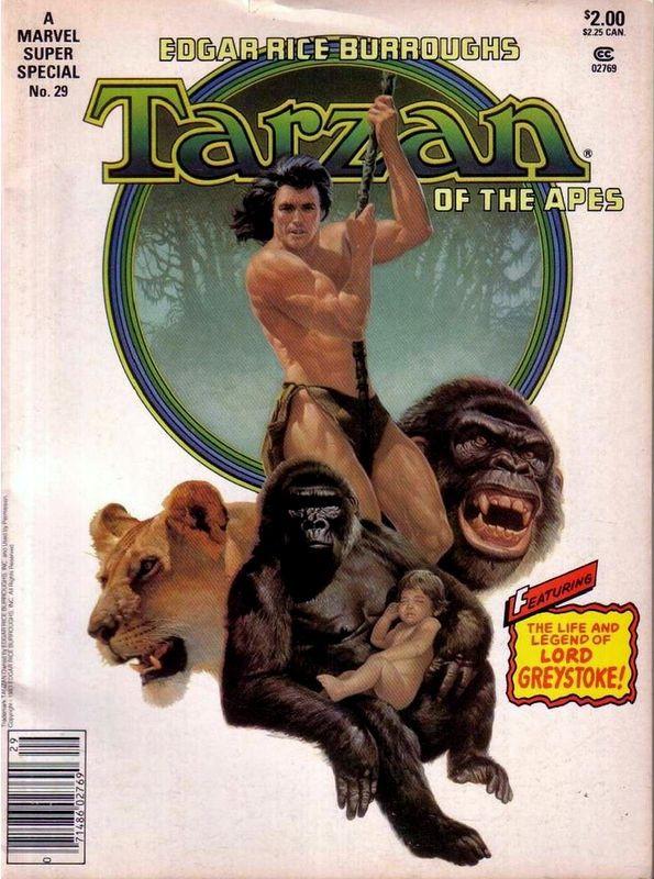 Couverture de Marvel Comics Super Special Vol 1 (1977) -29- Tarzan of the Apes