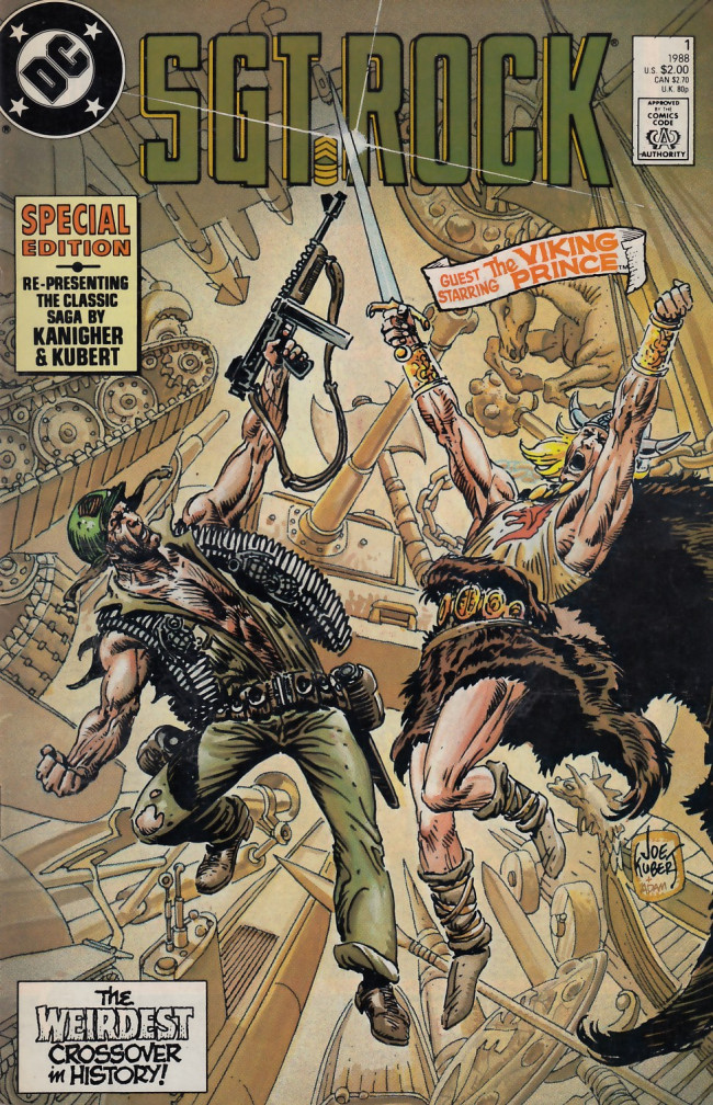 Couverture de Sgt. Rock (1988) -1- The Prince and the Sergeant