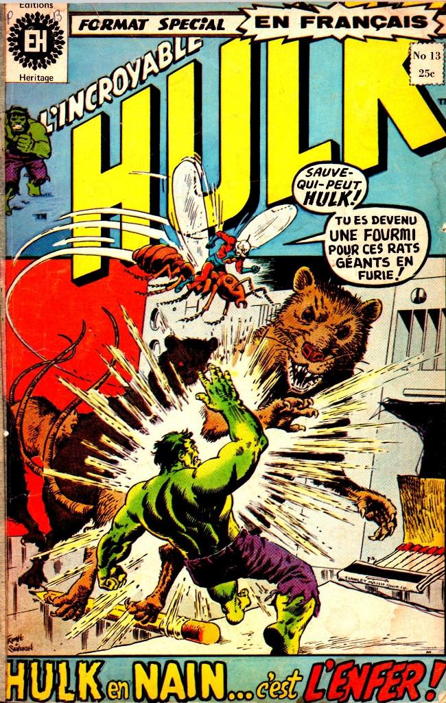 Couverture de L'incroyable Hulk (Éditions Héritage) -13- Devenu nain... c'est l'enfer