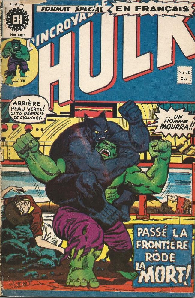 Couverture de L'incroyable Hulk (Éditions Héritage) -20- Passé la frontière rôde la mort !