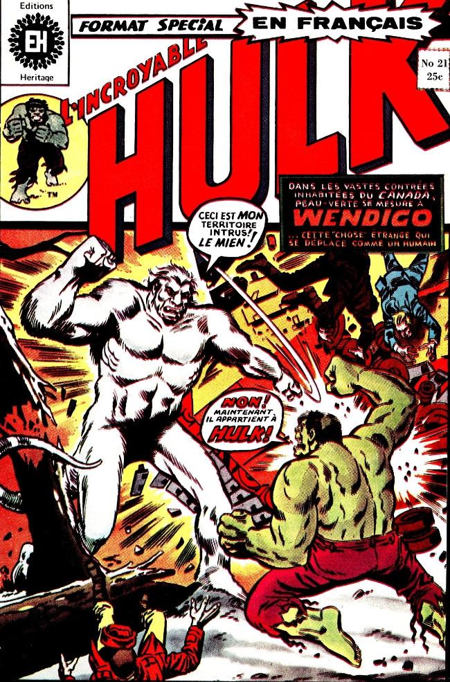 Couverture de L'incroyable Hulk (Éditions Héritage) -21- Rejetons su cannibale !