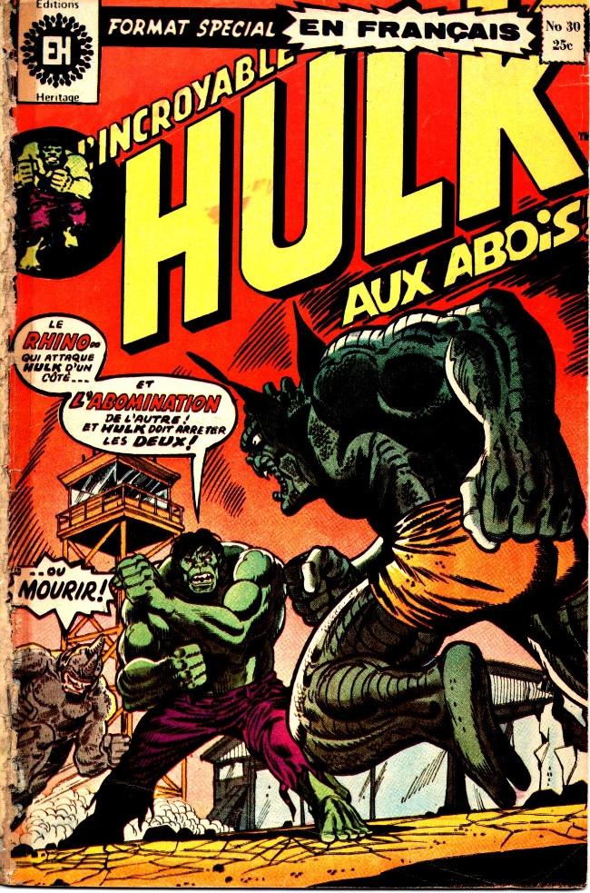 Couverture de L'incroyable Hulk (Éditions Héritage) -30- Vengeance !