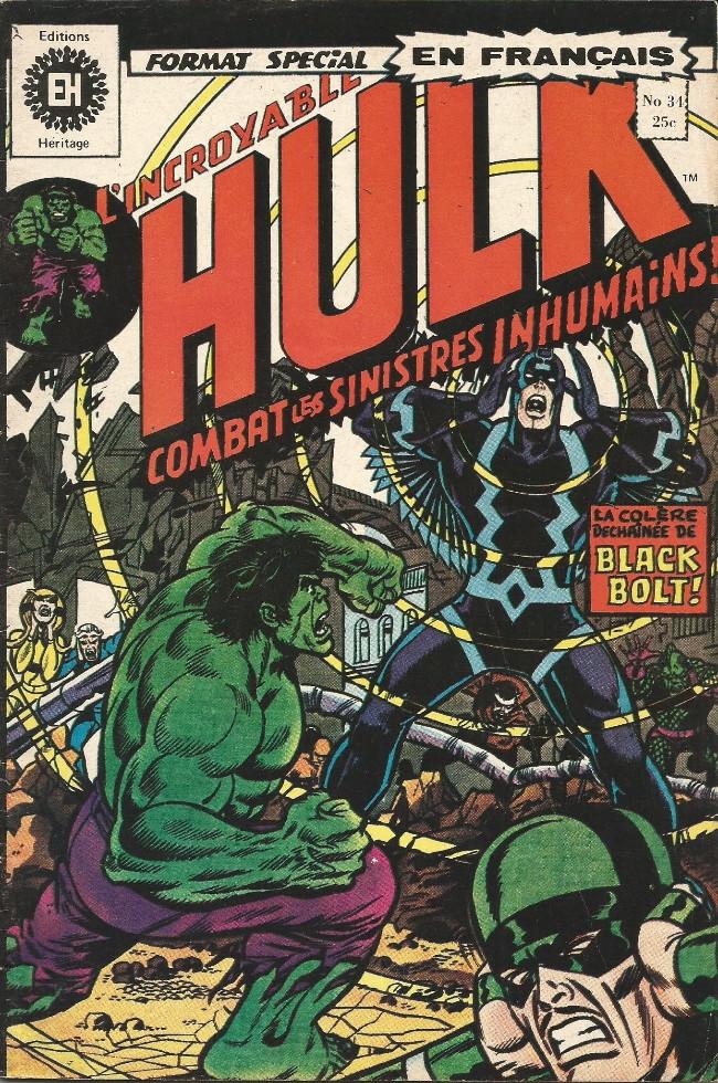 Couverture de L'incroyable Hulk (Éditions Héritage) -34- La brute humaine au pays caché!