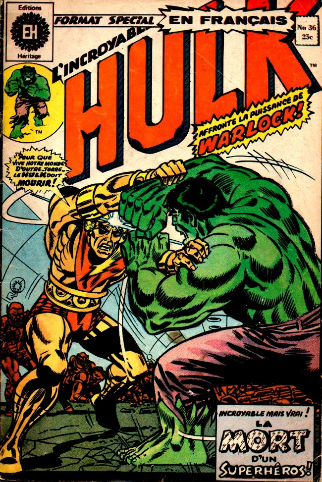 Couverture de L'incroyable Hulk (Éditions Héritage) -36- Les périls de la planète Plurale!