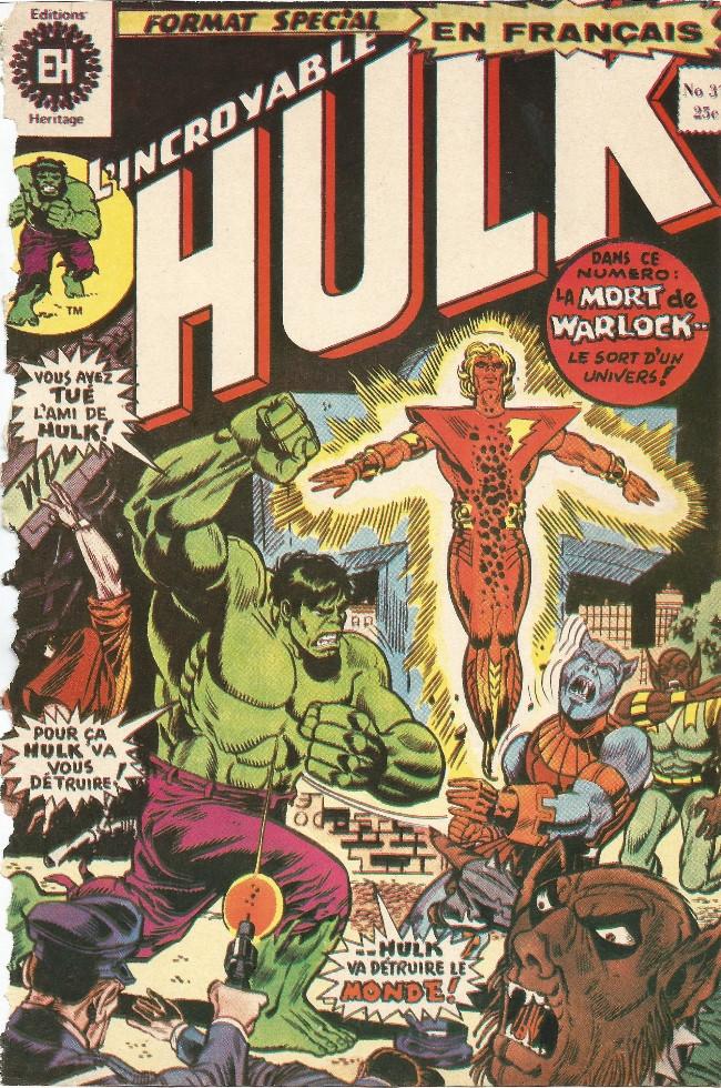 Couverture de L'incroyable Hulk (Éditions Héritage) -37- Triomphe sur Terre-2!