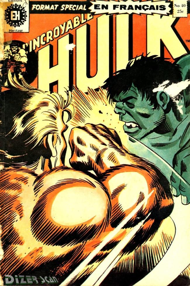Couverture de L'incroyable Hulk (Éditions Héritage) -40- Et maintenant... le Glouton!