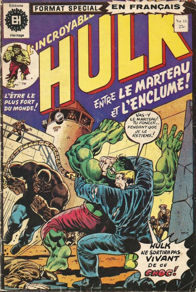 Couverture de L'incroyable Hulk (Éditions Héritage) -41- Entre le marteau et l'enclume!