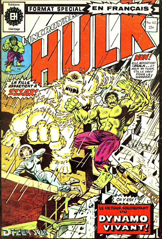 Couverture de L'incroyable Hulk (Éditions Héritage) -42- Fureur à 50,000 volts!