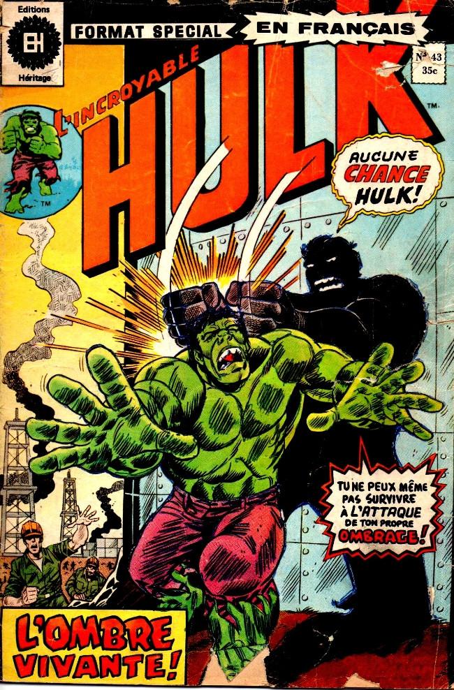 Couverture de L'incroyable Hulk (Éditions Héritage) -43- Une ombre sur le territoire!