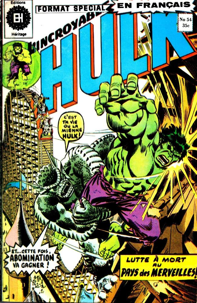 Couverture de L'incroyable Hulk (Éditions Héritage) -54- La guerre au pays des merveilles!