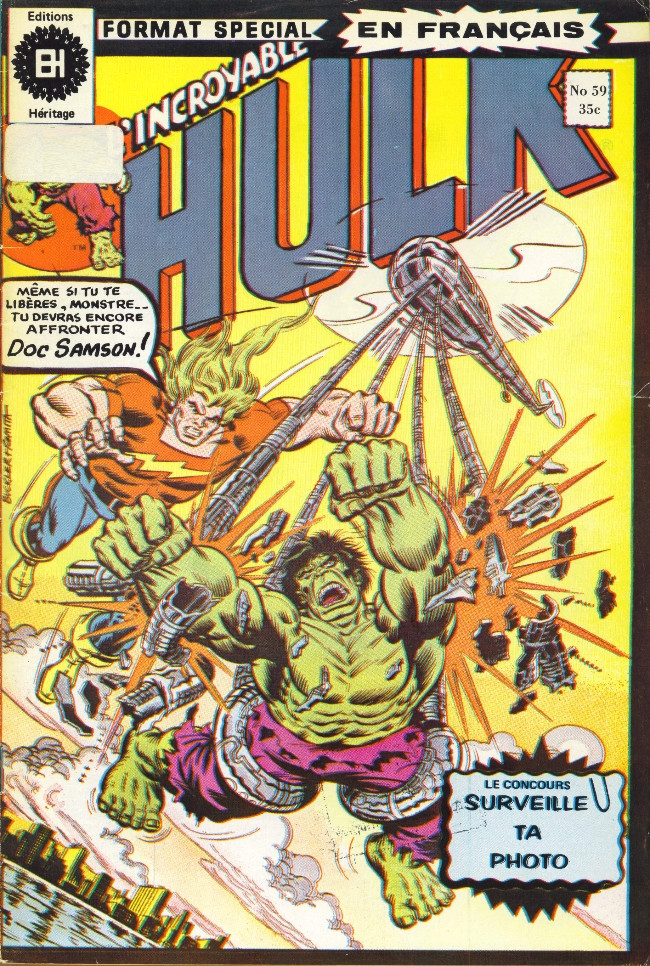 Couverture de L'incroyable Hulk (Éditions Héritage) -59- Un intrus dans l'esprit!