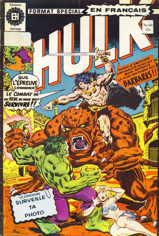 Couverture de L'incroyable Hulk (Éditions Héritage) -60- Le sabre et le sorcier!