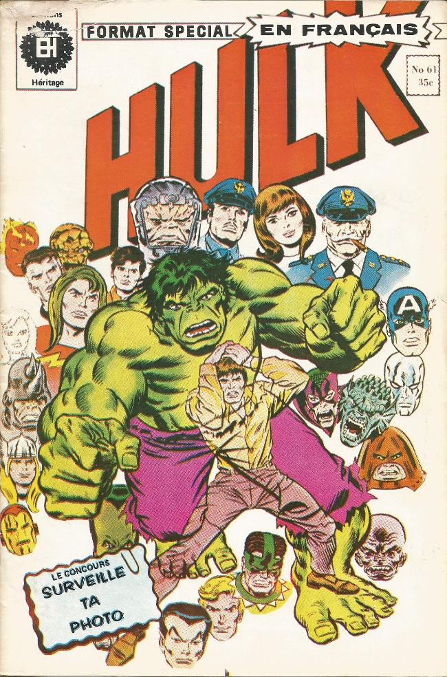 Couverture de L'incroyable Hulk (Éditions Héritage) -61- Ravage au cœur de l'atome