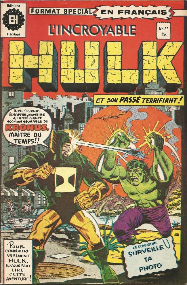 Couverture de L'incroyable Hulk (Éditions Héritage) -63- Cercle vicieux!