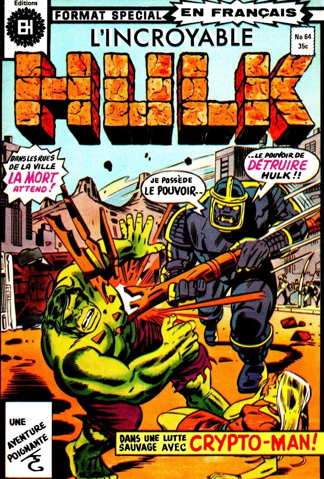 Couverture de L'incroyable Hulk (Éditions Héritage) -64- Ne m'abandonnez pas!