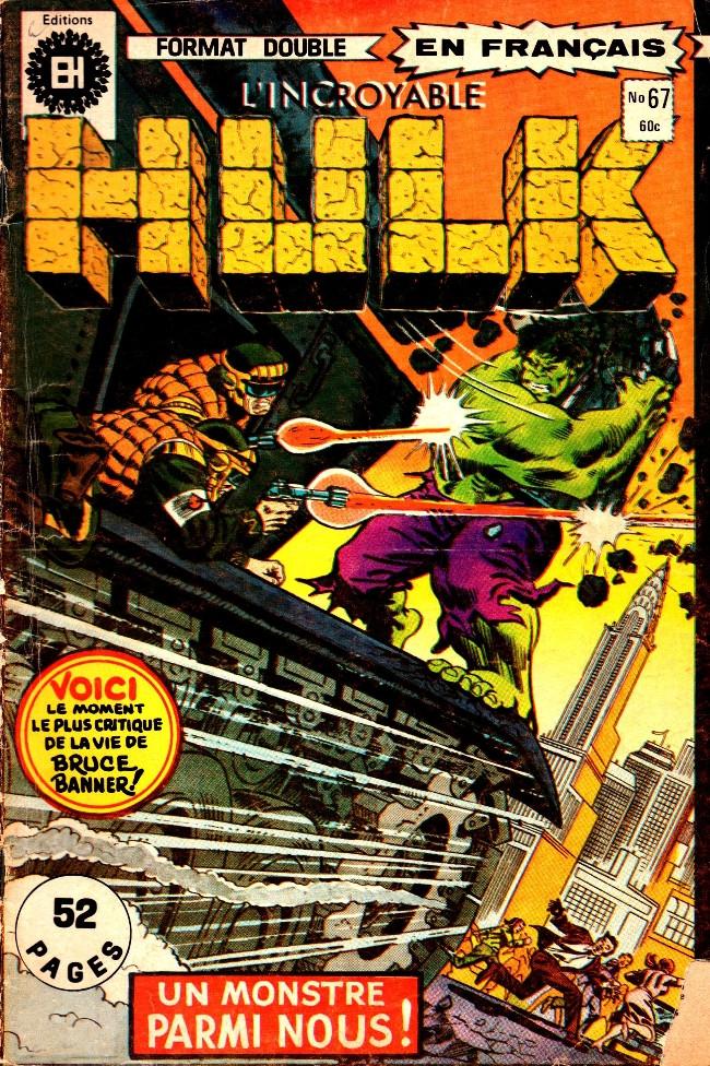 Couverture de L'incroyable Hulk (Éditions Héritage) -67- Un monstre parmi nous!