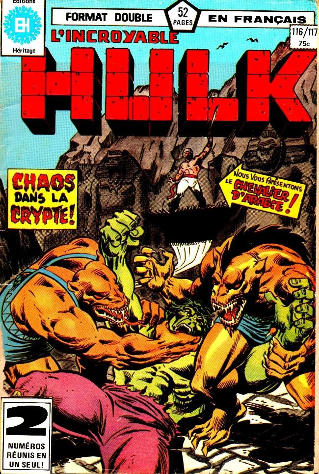 Couverture de L'incroyable Hulk (Éditions Héritage) -116117- La crypte du chaos!
