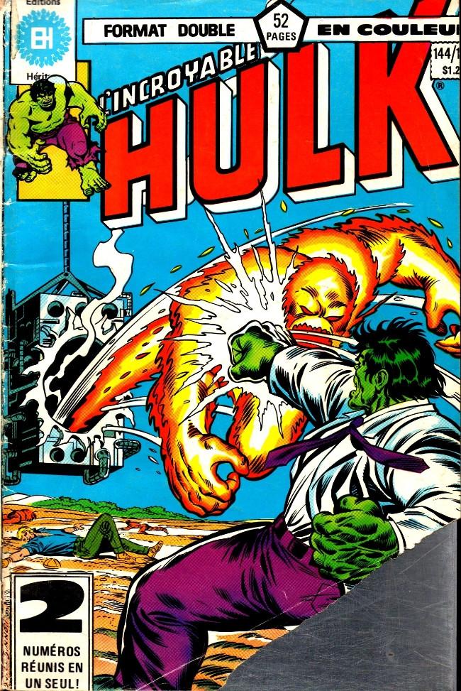 Couverture de L'incroyable Hulk (Éditions Héritage) -144145- Ce jour est le premier jour du reste de ma vie!