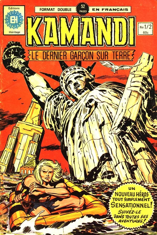 Couverture de Kamandi (Éditions Héritage) -12- Le dernier garçon sur Terre