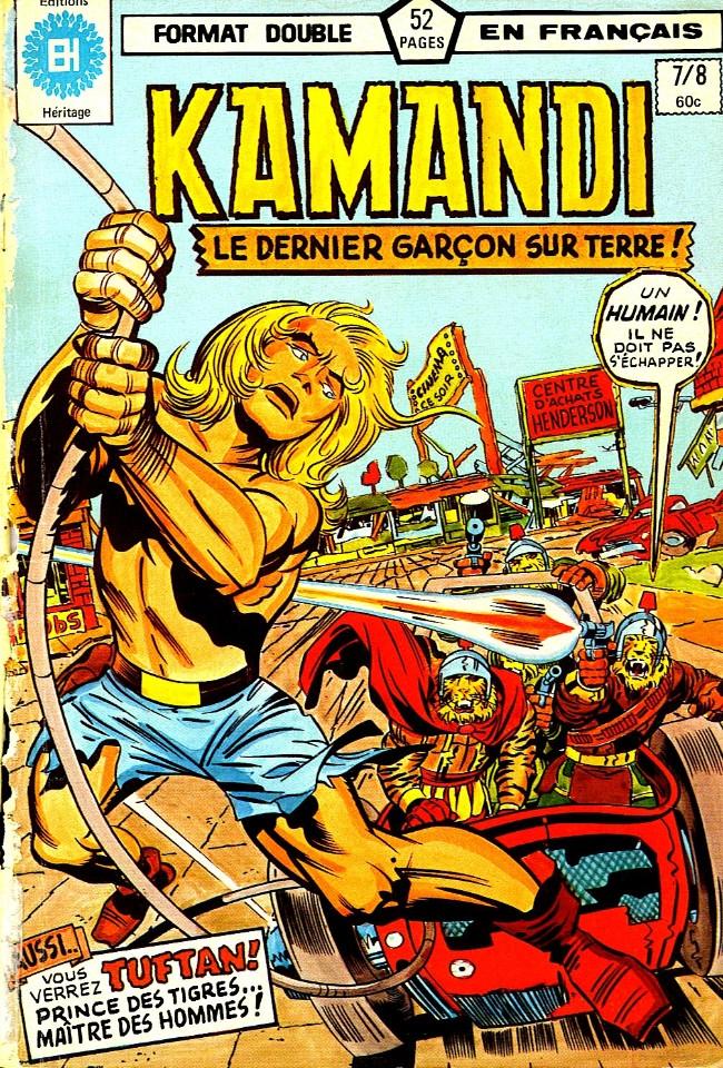 Couverture de Kamandi (Éditions Héritage) -78- L'arène du diable