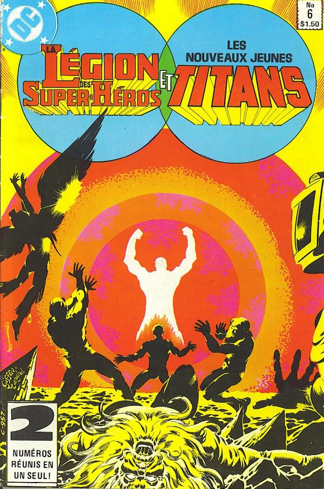 Couverture de La légion des super-héros et les nouveaux jeunes Titans (Editions Héritage) -6- Quand s'affrontent les Titans!