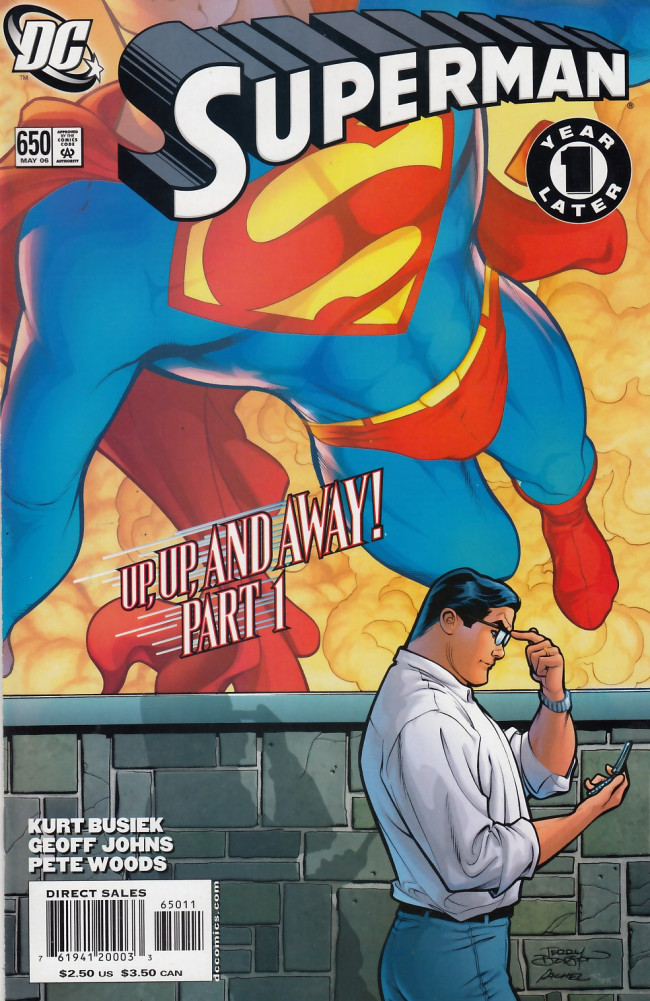 Couverture de Superman (1939) -650- Up, Up, and Away! Chapter one Mortal Men
