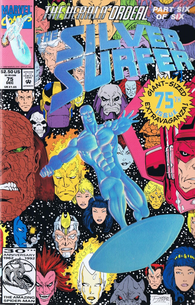 Couverture de Silver Surfer Vol.3 (Marvel comics - 1987) -75- The Herald Ordeal: Part 6 Destruction