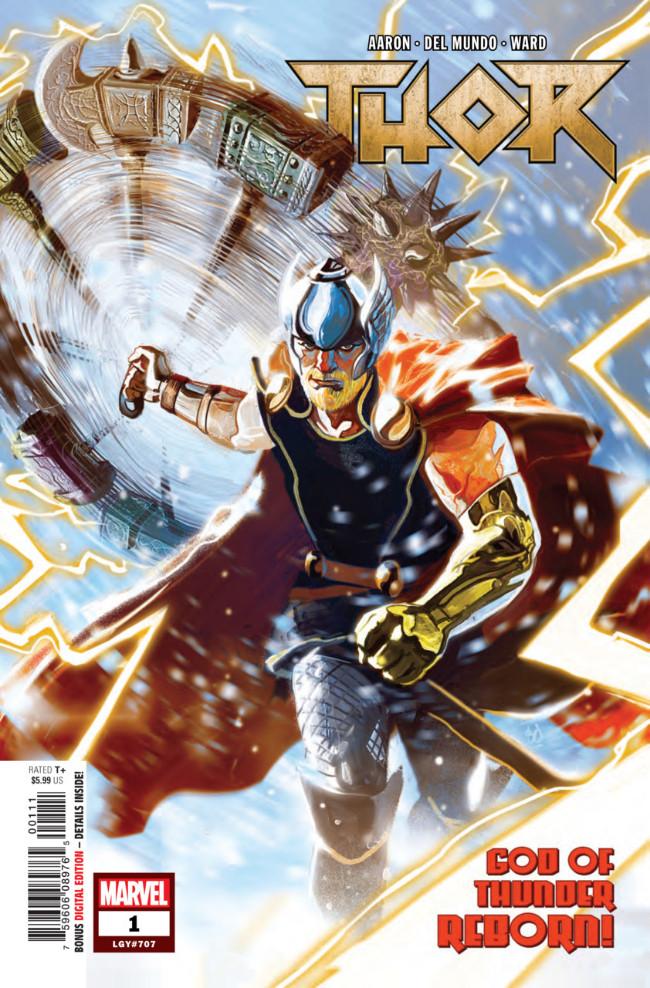 Couverture de Thor Vol.5 (Marvel comics - 2018) -1- God of Thunder Reborn!