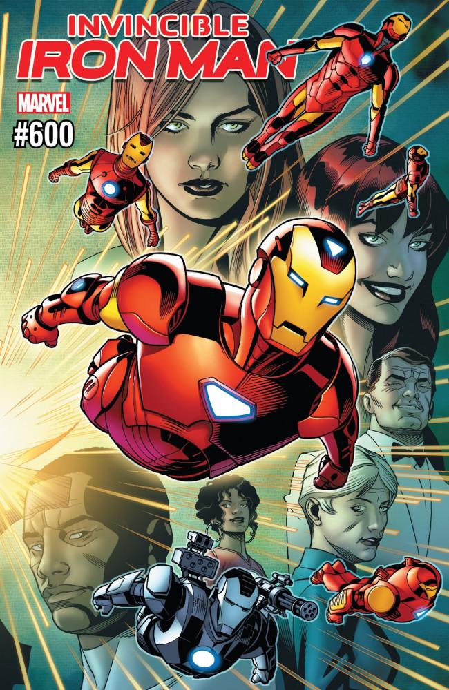Couverture de The invincible Iron Man (2016) -600- The Search For Tony Stark Finale