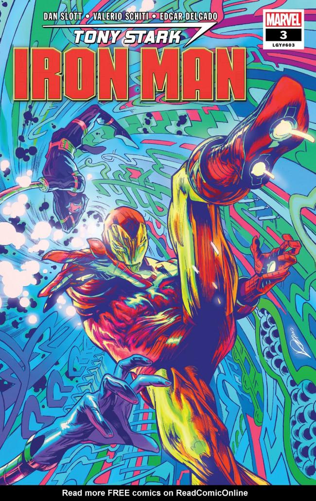 Couverture de Tony Stark: Iron Man (2018) -3- Self-Made Man: Part Three: Non-Player Character Assassination