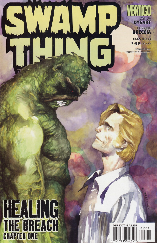 Couverture de Swamp Thing Vol.4 (DC comics - 2004) -15- Healing the Breach, Chapter One