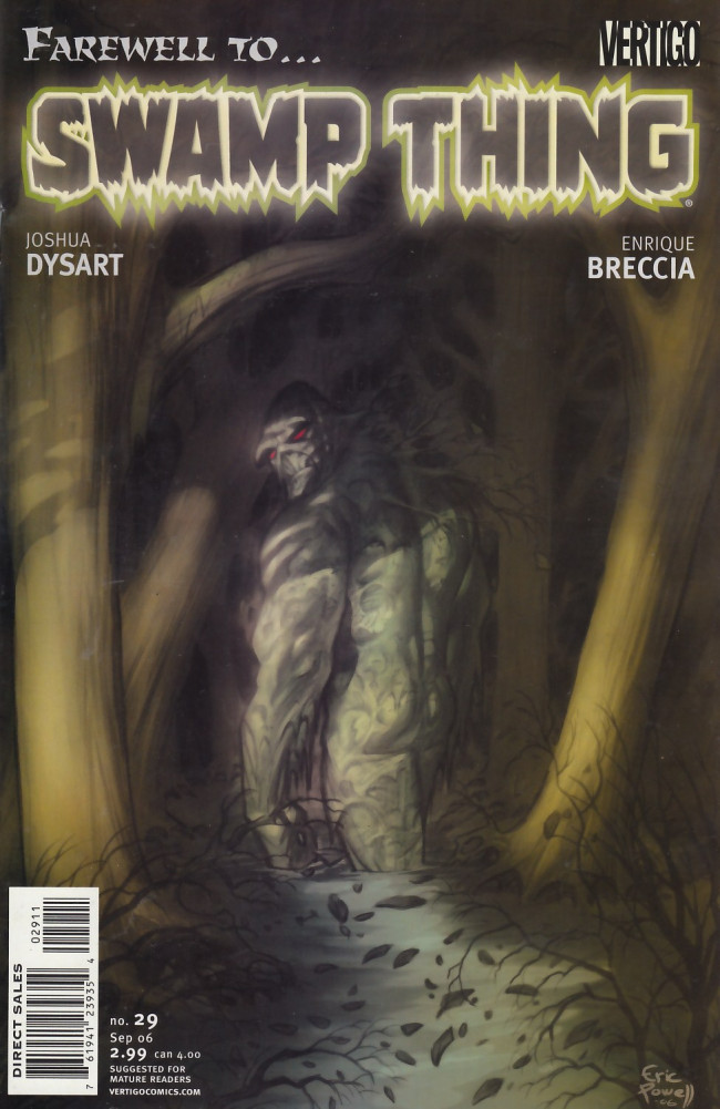 Couverture de Swamp Thing Vol.4 (DC comics - 2004) -29- Farewell to... Swamp Thing