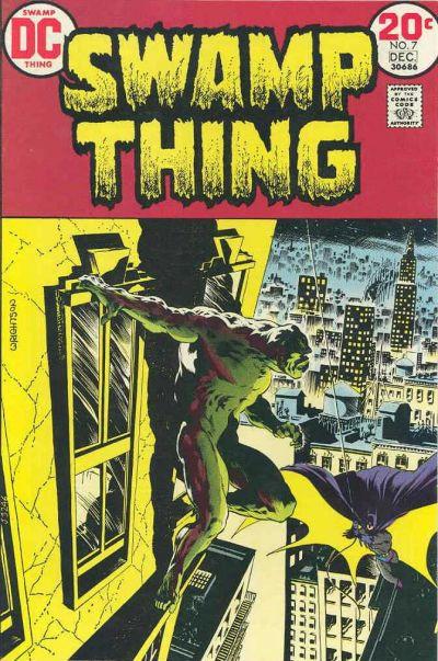 Couverture de Swamp Thing Vol.1 (DC comics - 1972) -7- Night of the Bat