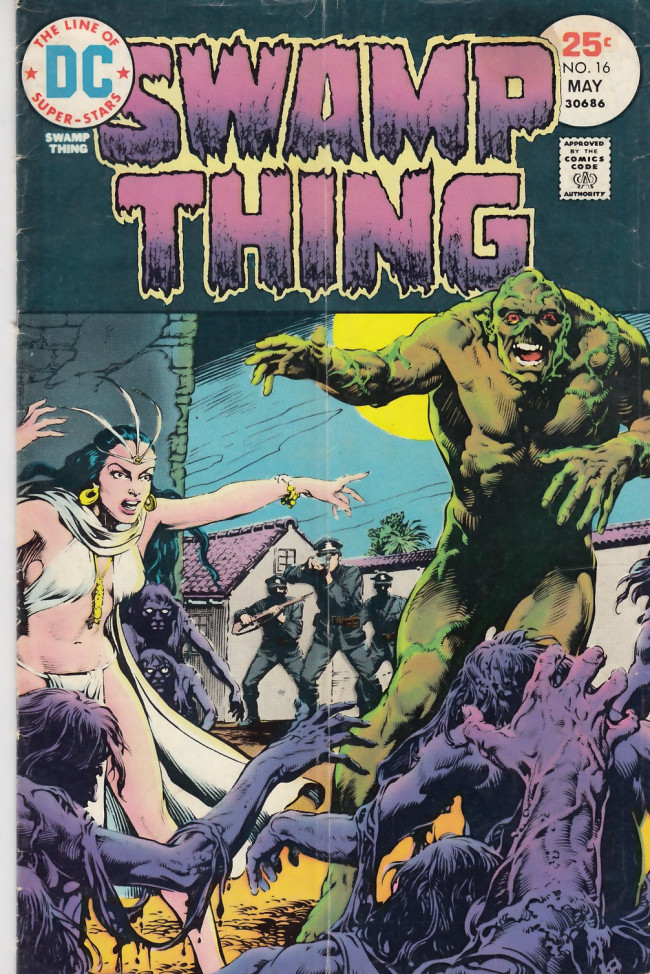 Couverture de Swamp Thing Vol.1 (DC comics - 1972) -16- Night of the Warring Dead
