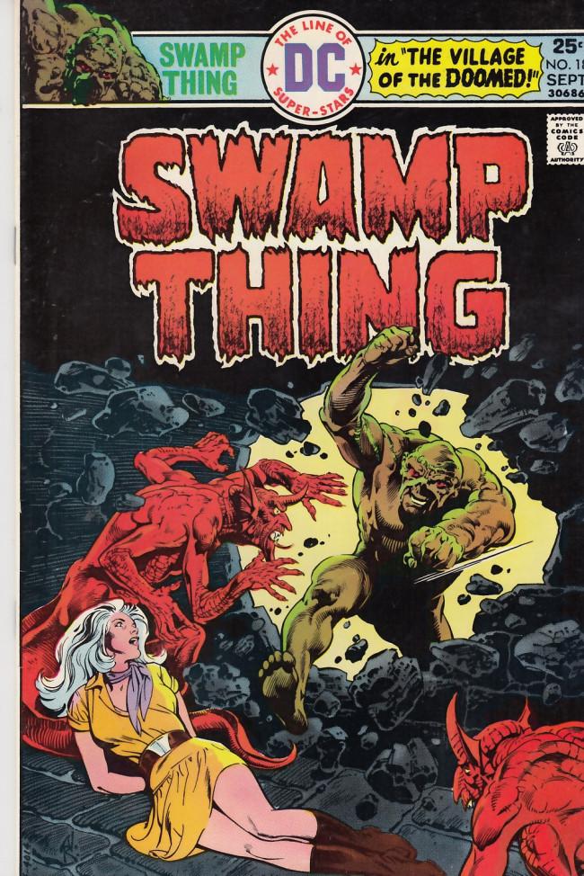 Couverture de Swamp Thing Vol.1 (DC comics - 1972) -18- Village of the Doomed