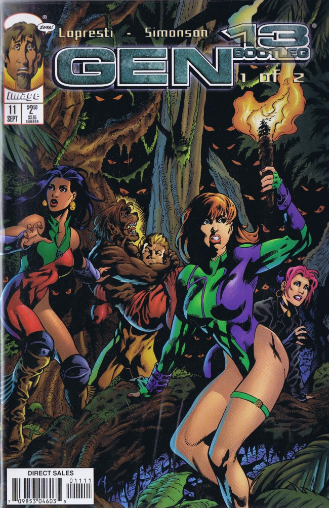 Couverture de Gen13 Bootleg (1996) -11- The Castle Of Doctor Monstro! Part 1