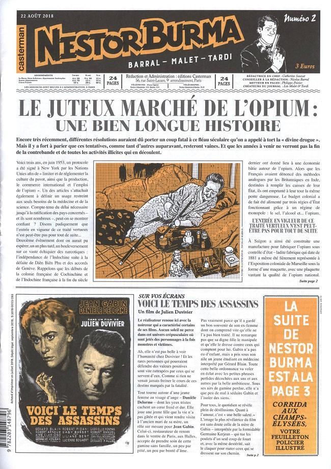 Couverture de Nestor Burma (Feuilleton) -11- Corrida aux Champs Elysées - Numéro 2