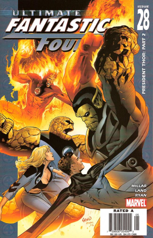 Couverture de Ultimate Fantastic Four (2004) -28- President Thor: Part 2