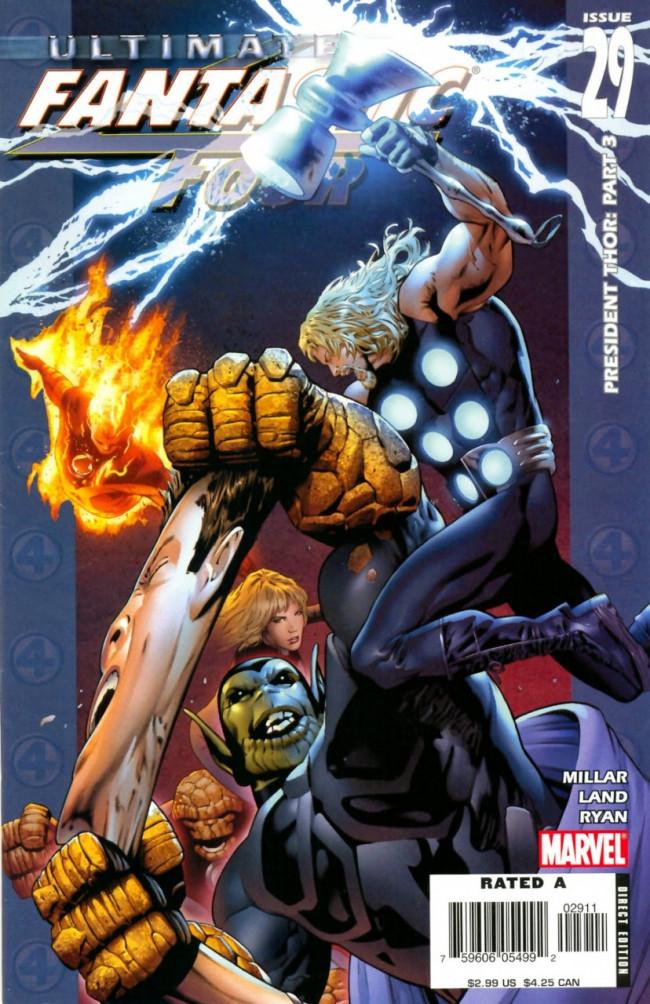 Couverture de Ultimate Fantastic Four (2004) -29- President Thor: Part 3