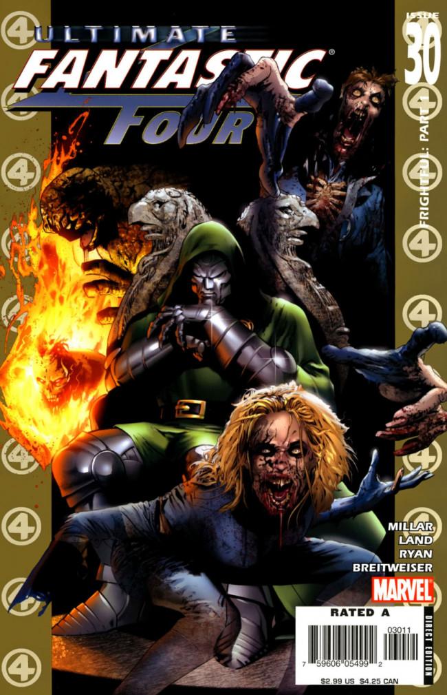 Couverture de Ultimate Fantastic Four (2004) -30- Frightful: Part 1
