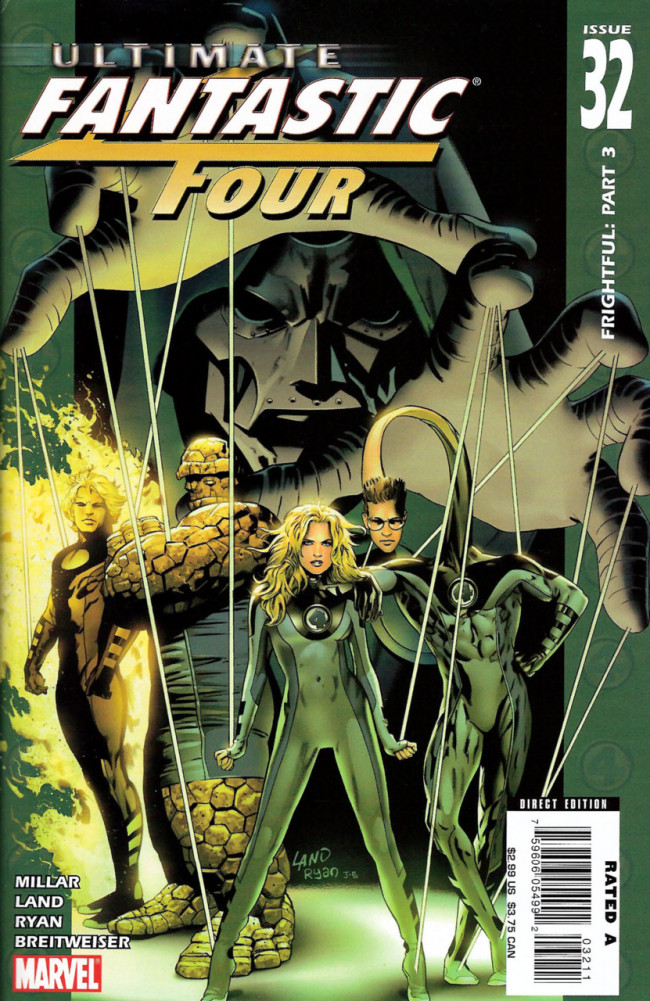 Couverture de Ultimate Fantastic Four (2004) -32- Frightful: Part 3