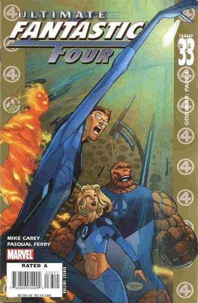 Couverture de Ultimate Fantastic Four (2004) -33- God War: Part 1
