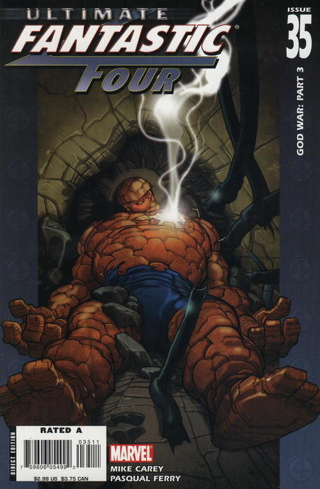 Couverture de Ultimate Fantastic Four (2004) -35- God War: Part 3