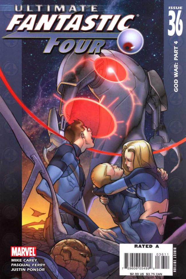 Couverture de Ultimate Fantastic Four (2004) -36- God War: Part 4