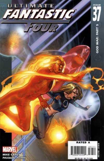 Couverture de Ultimate Fantastic Four (2004) -37- God War: Part 5