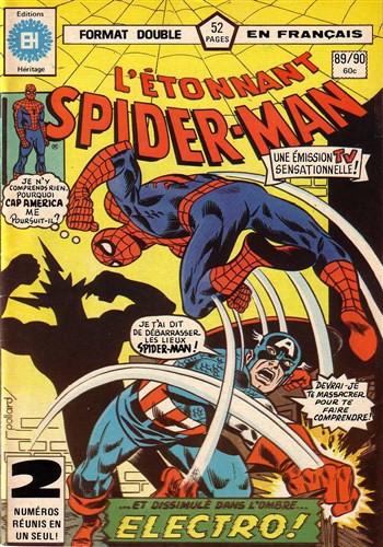 Couverture de L'Étonnant Spider-Man (Éditions Héritage) -8990- Le pouvoir d'Electro