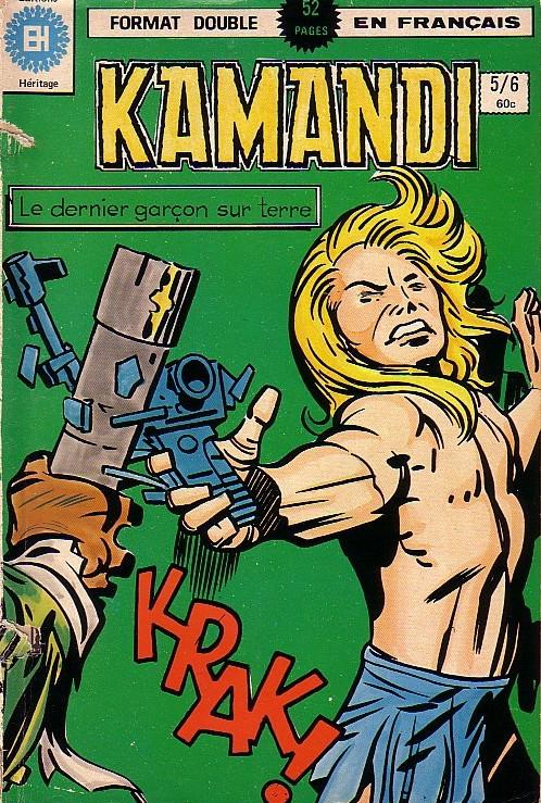Couverture de Kamandi (Éditions Héritage) -56- La chose qui grandit sur la Lune