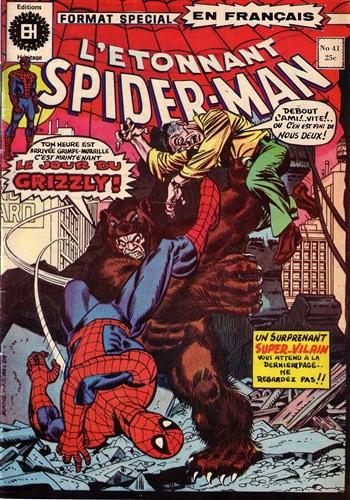 Couverture de L'Étonnant Spider-Man (Éditions Héritage) -41- Le jour du Grizzly !