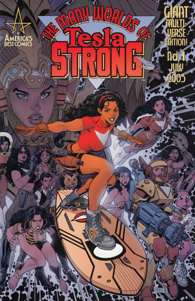 Couverture de The many Worlds of Tesla Strong (2003) -1- The Many Worlds of Tesla Strong