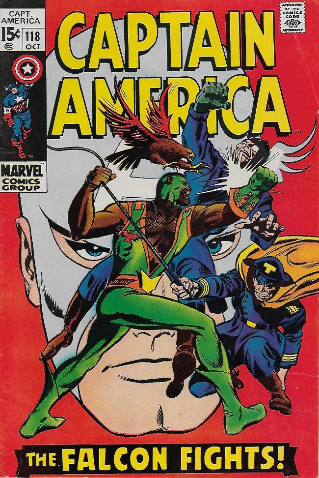 Couverture de Captain America (Marvel comics - 1968) -118- The Falcon Fights On !